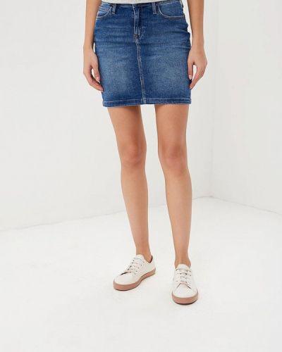 Синяя юбка мини Lee