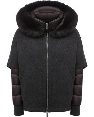 Куртка с капюшоном - серая Moorer