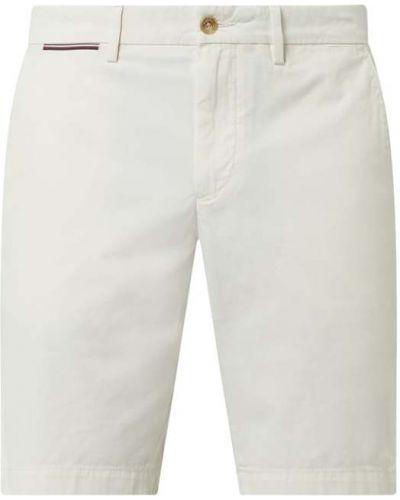 Białe szorty chinosy bawełniane Tommy Hilfiger
