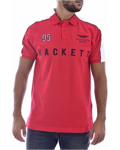 Czerwona koszulka Hackett