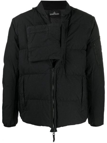 Пуховая куртка - черная Stone Island Shadow Project