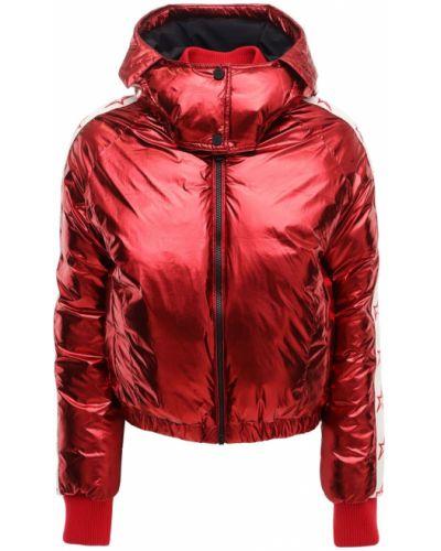 Нейлоновая красная куртка с капюшоном Perfect Moment