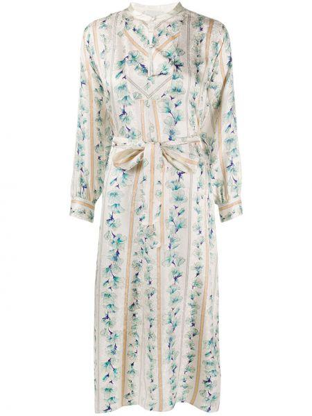 Платье миди на пуговицах с цветочным принтом Forte Forte
