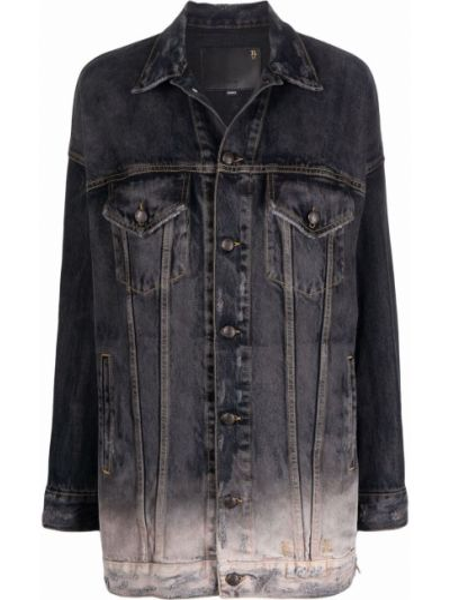 Черная джинсовая куртка R13