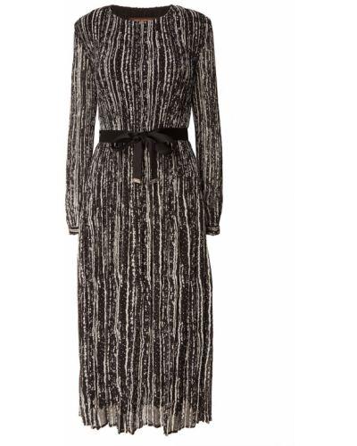 Приталенное платье миди с длинными рукавами с поясом Adolfo Dominguez