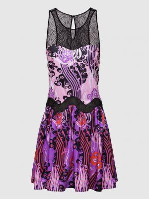 Платье мини - фиолетовое Roberto Cavalli