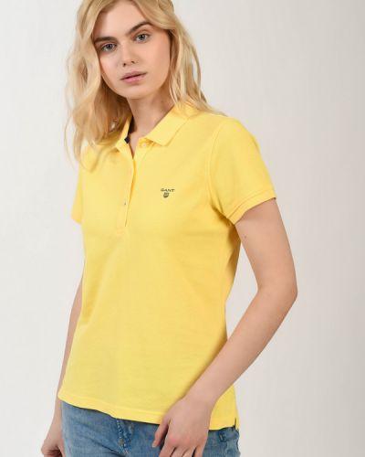 Хлопковая блузка - желтая Gant