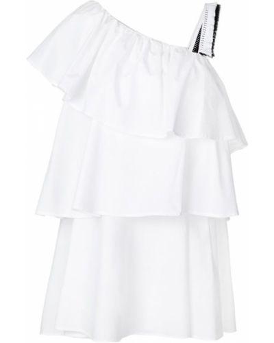 асимметричное платье с оборкой Au Jour Le Jour