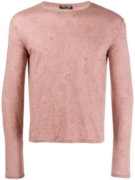 Розовая футболка Miu Miu Pre-owned