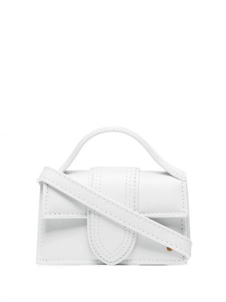 Biała torebka mini skórzana Jacquemus