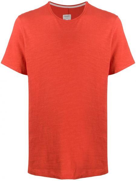 Bawełna prosto pomarańczowy koszula z krótkim rękawem okrągły dekolt Rag & Bone