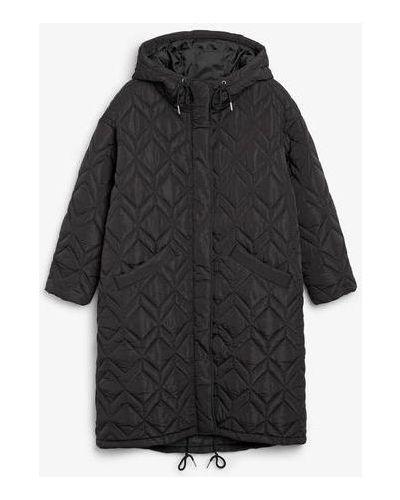 Стеганое пальто - черное Monki