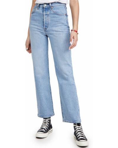 С завышенной талией прямые синие джинсы Levi's®