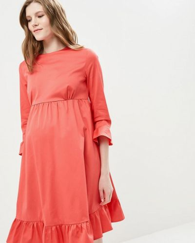 Платье весеннее красный Mammysize