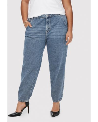 Mom jeans - granatowe Only Carmakoma