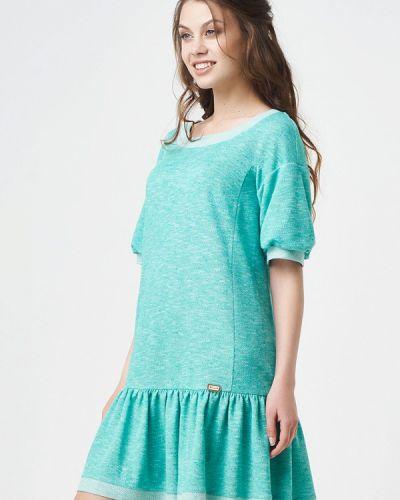 Бирюзовое вязаное платье Ricamare