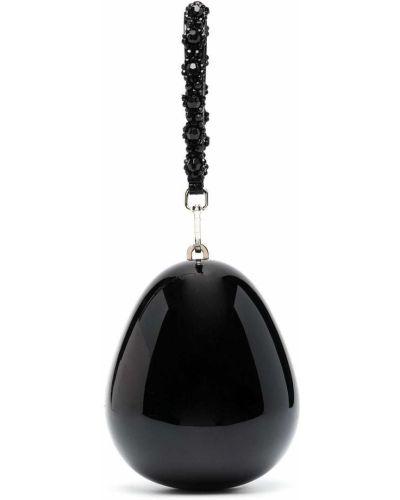 Czarna torebka mini perły z jedwabiu Simone Rocha