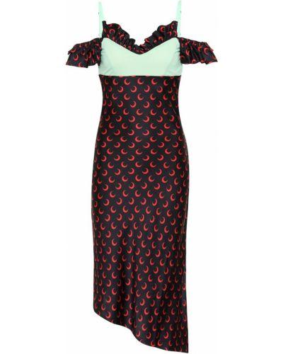 Платье миди с открытыми плечами из вискозы Marine Serre