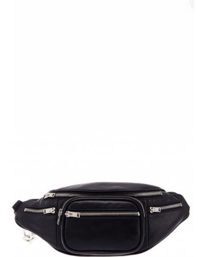 Кожаный черный широкий ремень с карманами свободного кроя Alexander Wang