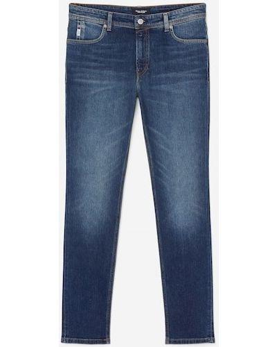Niebieskie jeansy rurki z niskim stanem Marc O Polo