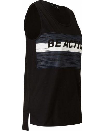Черный спортивный топ Bonprix