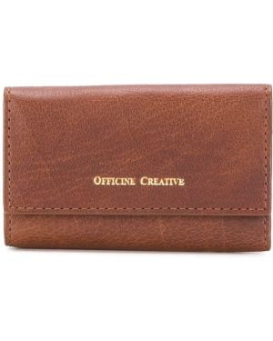 Брелок коричневый с логотипом Officine Creative