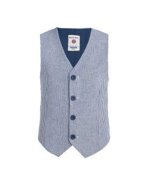 Жилетка костюмная в полоску Button Blue