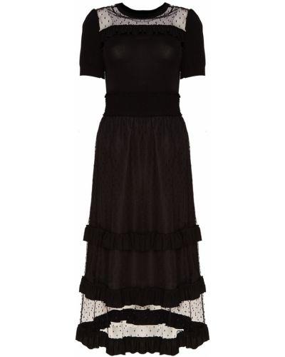 Платье миди облегающее в полоску Red Valentino
