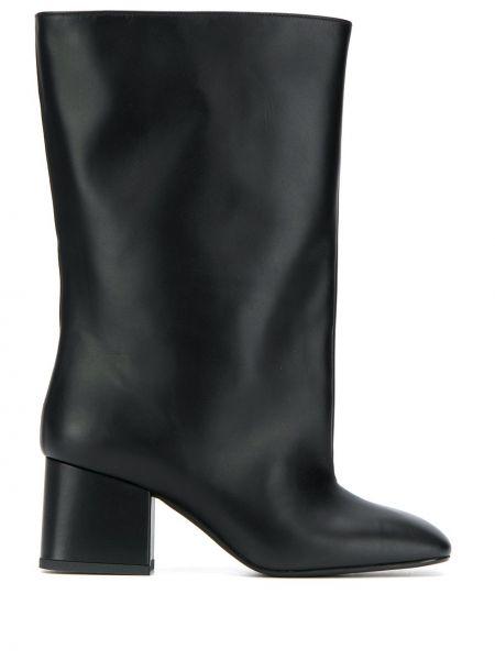 Ботинки на каблуке черные трубы Marni
