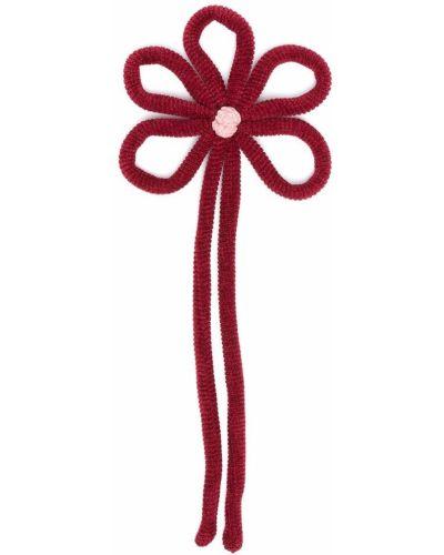 Красная брошь с нашивками Piccola Ludo