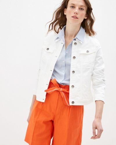 Белая джинсовая куртка Taifun