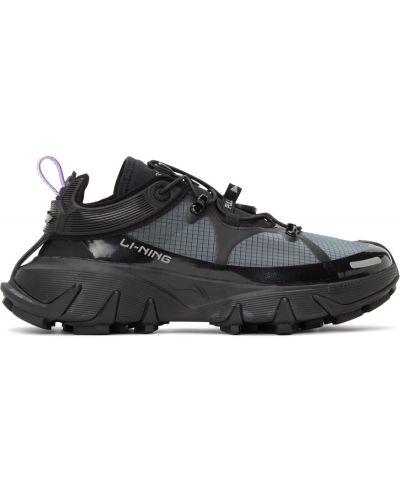 Текстильные кроссовки - черные Li-ning