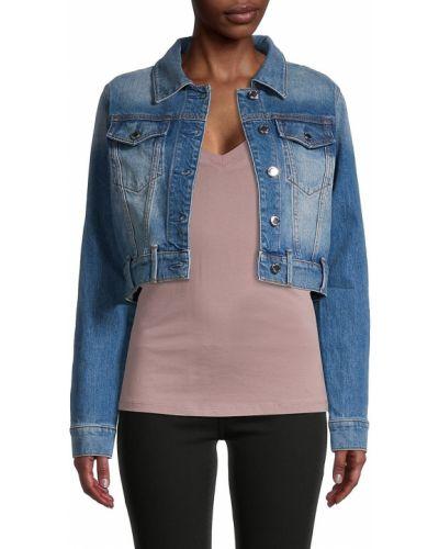 Ватная синяя джинсовая куртка с воротником True Religion