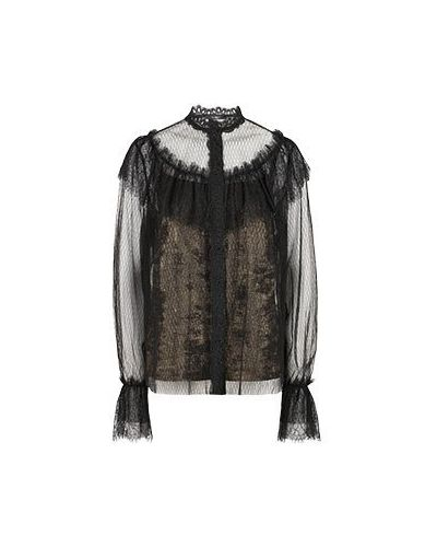 Черная блузка из вискозы Vuall
