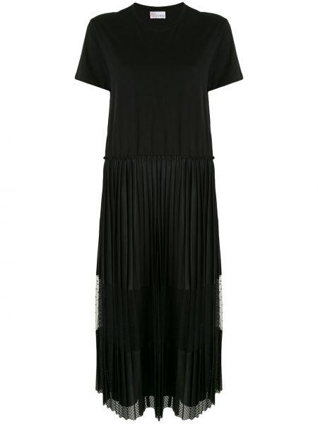 Платье мини футболка черное Redvalentino