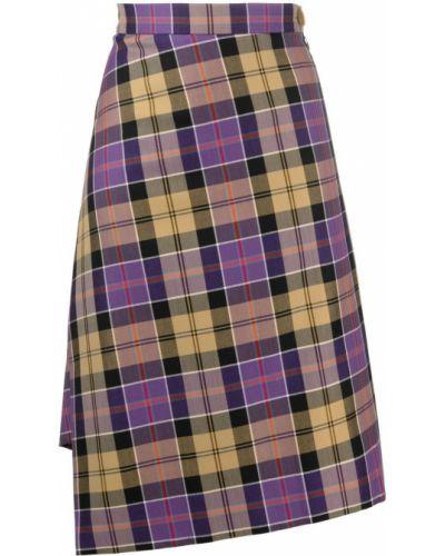 Коричневая асимметричная шерстяная юбка Vivienne Westwood