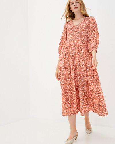 Оранжевое прямое платье Y.a.s