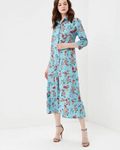 Платье весеннее бирюзовый Zeza