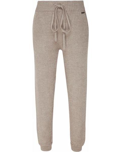 Трикотажные серые брюки на резинке Laroom