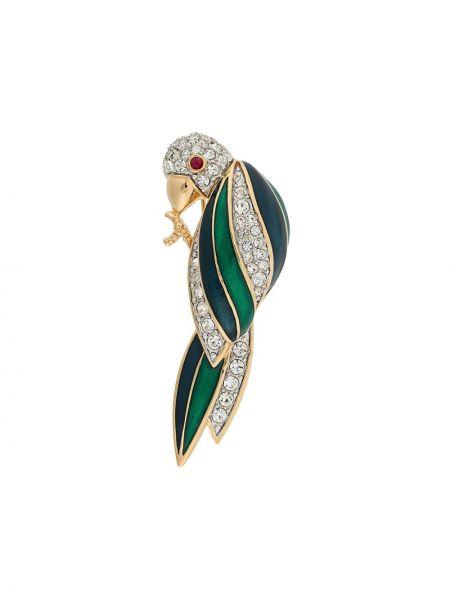 Kryształ broszka zabytkowe Susan Caplan Vintage