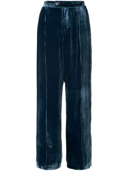 Синие брюки с поясом Undercover