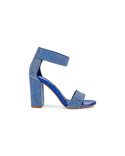 С ремешком синие текстильные босоножки Jeffrey Campbell