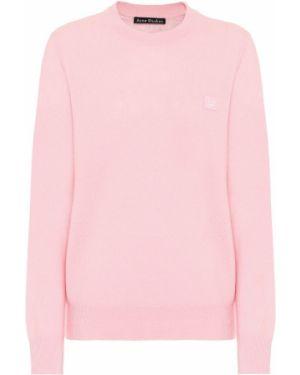 Розовый свитер с вышивкой Acne Studios