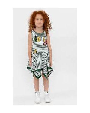 Платье макси в полоску платье-поло Gulliver Wear