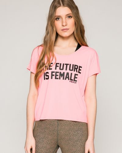 Розовая футболка прямая Only Play