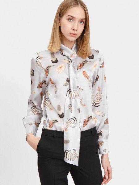 Серая блузка с длинным рукавом Bizzarro