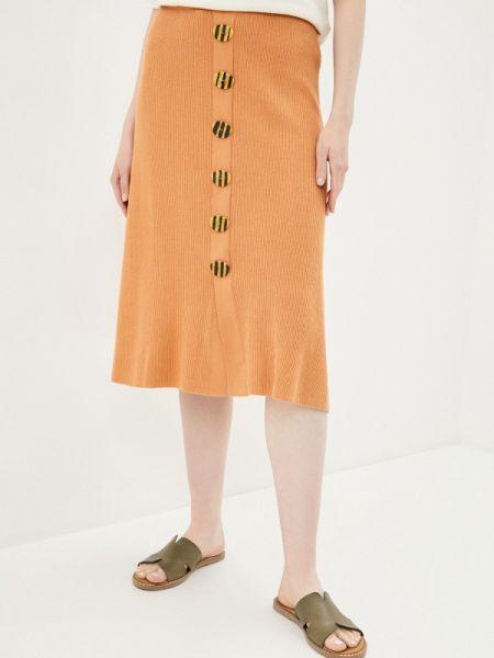 Оранжевая юбка Rodier