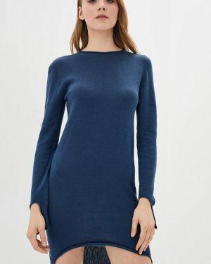 Синее клубное вязаное платье Nataclub