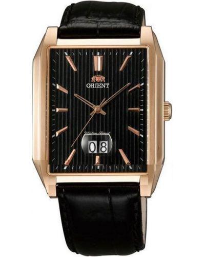 Часы водонепроницаемые с кожаным ремешком большой Orient