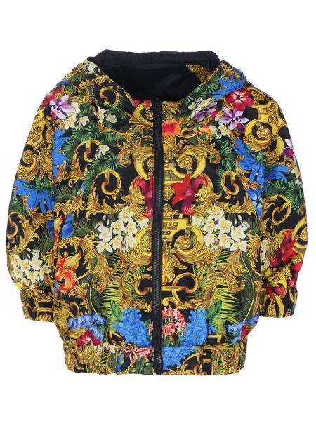 Джинсовая куртка с капюшоном - мятная Versace Jeans Couture